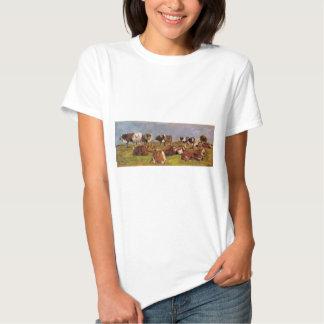 Vaches dans un domaine par Eugene Boudin T-shirts