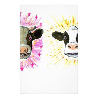 Vaches folles papier à lettre personnalisable