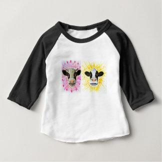 Vaches folles t-shirt pour bébé