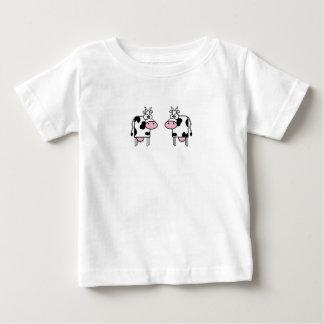 Vaches heureuses à bande dessinée t-shirts