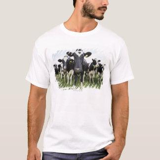 Vaches se tenant dans une rangée regardant t-shirt