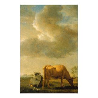 Vaches sur un pré par Adriaen van de Velde Papier À Lettre