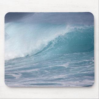 Vague bleue se brisant, Maui, Hawaï, Etats-Unis 2 Tapis De Souris