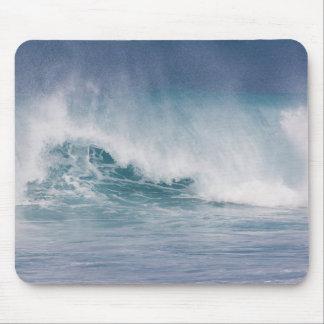 Vague bleue se brisant, Maui, Hawaï, Etats-Unis 3 Tapis De Souris