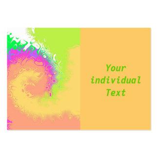 vague de couleur modèles de cartes de visite