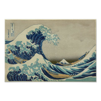 Vague de Kanagawa par Katsushika Hokusai Posters