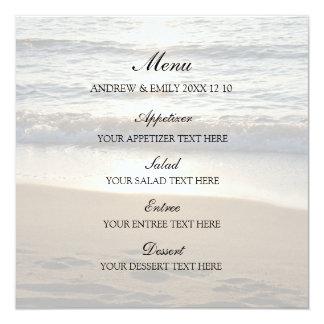 Vague de menu de mariage au coucher du soleil carton d'invitation  13,33 cm