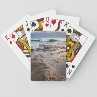 Vague se cassant sur la plage, la Californie Jeu De Cartes