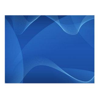 Vagues bleues carte postale