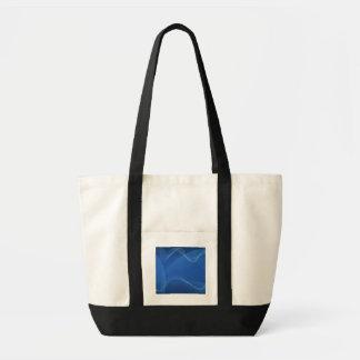 Vagues bleues sacs en toile
