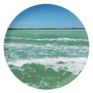 Vagues dans le Golfe du Mexique Assiette