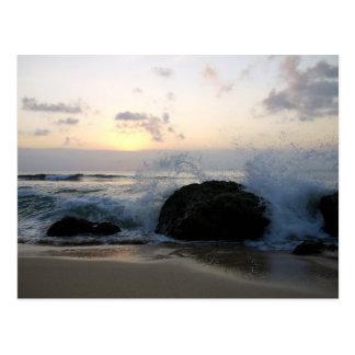 vagues de Bali Carte Postale
