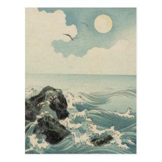 Vagues de Japonais Carte Postale