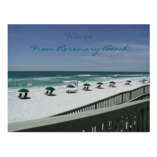 Vagues de plage de Rosemary Carte Postale