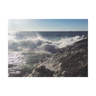 Vagues de plage toile