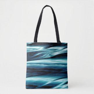 Vagues d'eau bleue abstraites sac