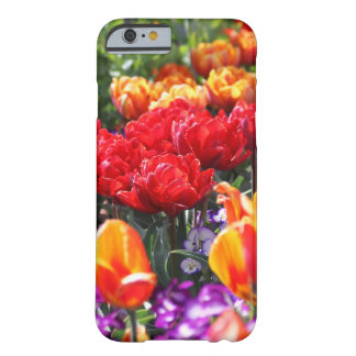 Vagues florales de cramoisi de Falln Coque iPhone 6 Barely There