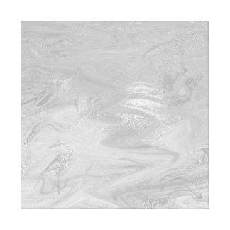 Vagues monochromatiques d'abrégé sur de marbre toile