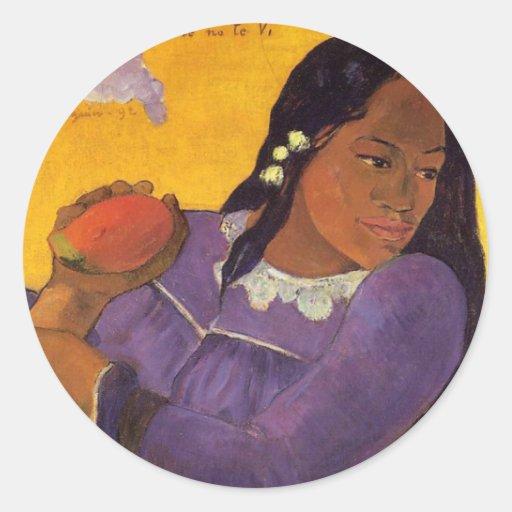"""Vahine aucun autocollant de Te Vi"" - Paul Gauguin"