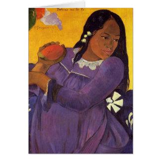 """""""Vahine aucune carte de Te Vi"""" - Paul Gauguin"""