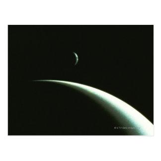 Vaisseau spatial au-dessus de Neptune Carte Postale