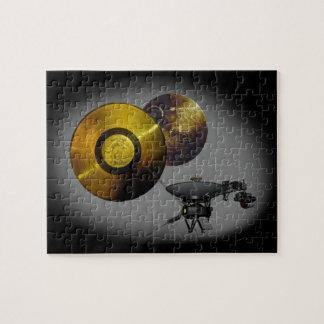 Vaisseau spatial de Voyager et disque d'or à 40 Puzzle