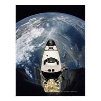 Vaisseau spatial orbital carte postale