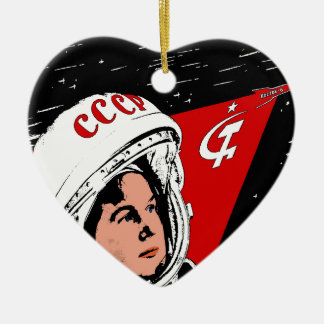 Valentina Tereshkova Ornement Cœur En Céramique
