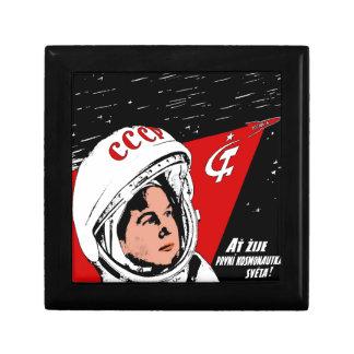 Valentina Tereshkova Petite Boîte À Bijoux Carrée
