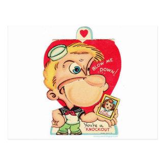 valentine 14 février vintage carte postale