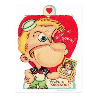valentine 14 février vintage cartes postales