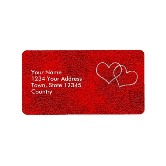 Valentine #2 étiquettes d'adresse