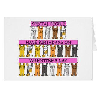 Valentine anniversaire 14 février carte de vœux