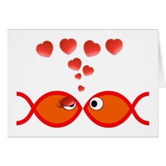 Valentine chrétien v2 orange carte de vœux
