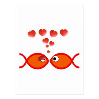 Valentine chrétien v2 orange cartes postales