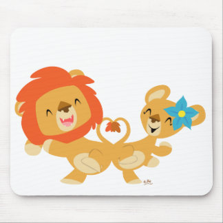 Valentine dansant le mousepad de couples de lion tapis de souris