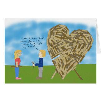 Valentine en bois - masquez l'intérieur (la carte de vœux