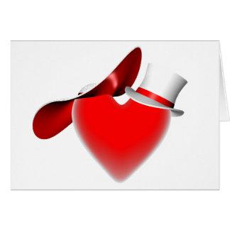 Valentine/fiançailles/mariage/mariage/anniversaire Carte De Vœux