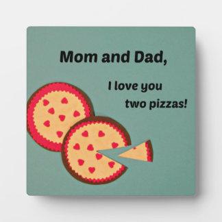 Valentine humoristique pour des parents plaque d'affichage