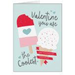 Valentine le plus frais carte de vœux