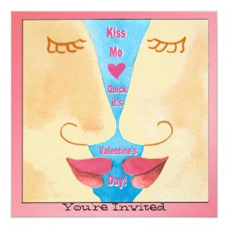 Valentine m'embrassent invitation rapide carton d'invitation  13,33 cm