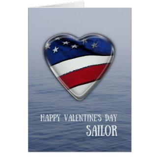 Valentine pour le marin patriote carte de vœux