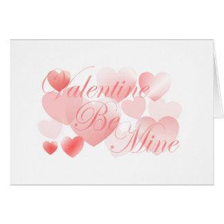 Valentine soit le mien carte de vœux