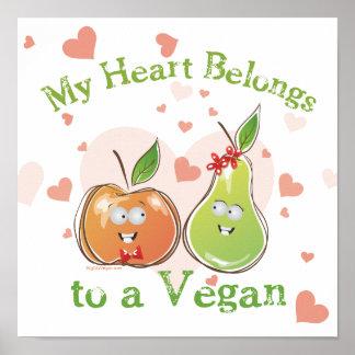Valentine végétalien posters