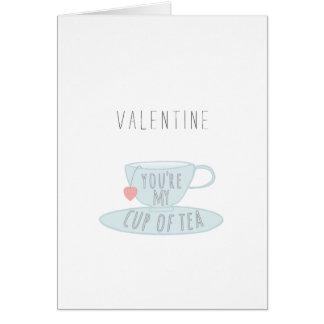 Valentine vous êtes ma tasse d'illustration de thé cartes