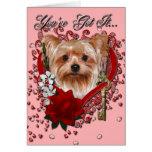 Valentines - clé à mon coeur - Yorkshire Terrier
