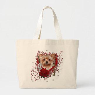 Valentines - clé à mon coeur - Yorkshire Terrier Grand Sac