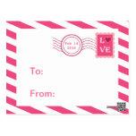 Valentines de salle de classe de cachet de la post cartes postales