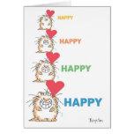Valentines HEUREUX HEUREUX de CAT par Boynton Carte De Vœux