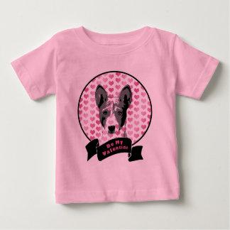 Valentines - silhouette de Basenji T-shirt Pour Bébé